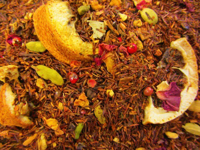 Winterwärme Rotbuch (Rooibos) Weihnachts Tee mit Limone